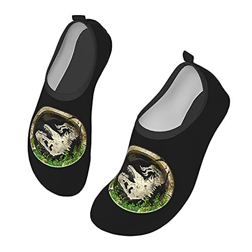 Jurassic Park - Zapatos de agua para hombre y mujer al aire libre, calcetines descalzos para la playa, correr, esnórquel, playa, natación, piscina, surf, yoga, ejercicio., color Negro, talla 33 EU