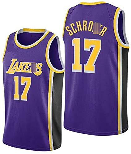 JKHKL Herren Basketball Trikot Akers Lakers # 17 Schroder Basketball Trikot Sportswear, Unisex äRmelloses T-Shirt Basketball Trikot M Purple