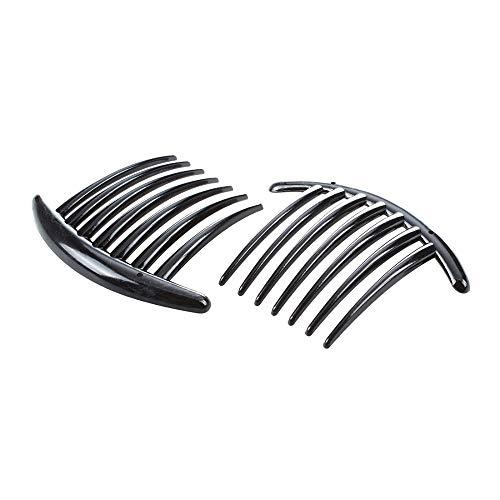 Pinces À Cheveux Barrettes Headbands Et Serre-Têtes 2Pcs Cheveux Peigne Accessoires En Plastique Femmes Dame Fashion Noir