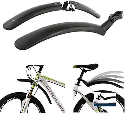 Guardabarros de Bicicleta de montaña de Carretera Ajustable Guardabarros Delantero + Trasero Guardabarros Guardabarros para Bicicleta de 24-28