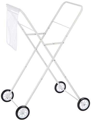 Daily wasmand trolley, metaal, wit, 53 x 43 x 86 cm