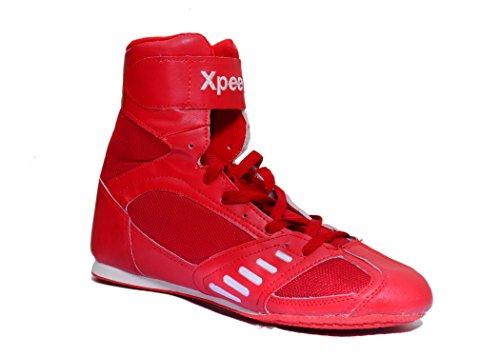 Xpeed Scarpe da Boxe/Lotta Xpeed in Colore Rosso