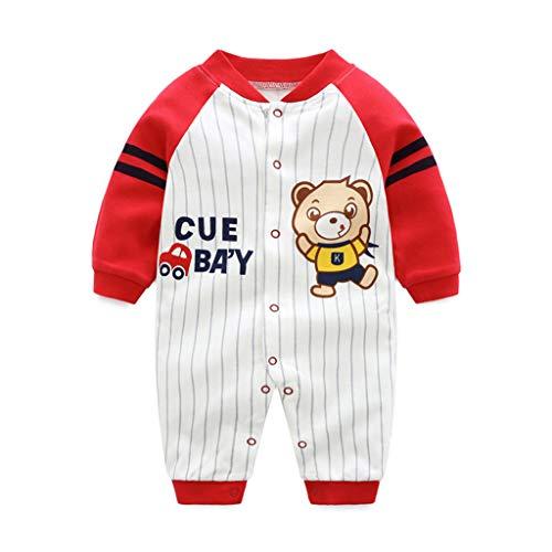 PROTAURI Baby Strampler - Jungen Mädchen Onesies Langarm Schlafanzug Kinder Baumwolle Overalls Nachtwäsche Bodysuits für 0-12 Monate