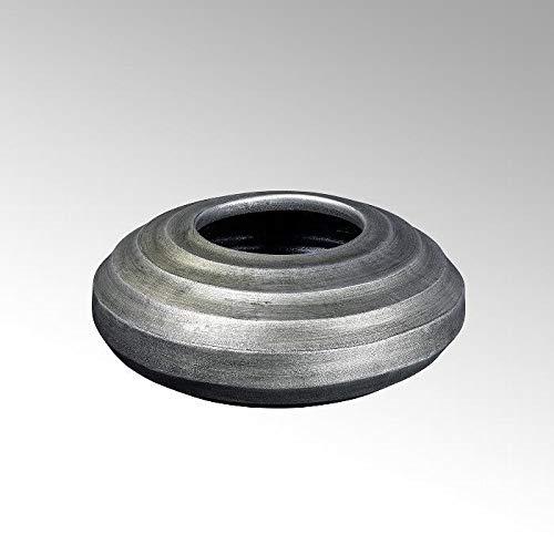 Lambert Sansibar Gefäß, Keramik, Silber, H16, D35 cm