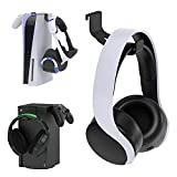 2 Pack Controller Headphone Holder for PS5 and Xbox Series X, YUANHOT DualSense & Headset & PS VR Stand Mount Accessories for Playstation 5 and Xbox Series X Controller, No Screws & No Adhesive Tape
