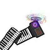 61 Keys Portable Piano Electric Piano Keyboard Hand Roll Piano Roll Up Keyboard Piano Foldable Piano Electronic Keyboards Roll Out Piano Music Keyboard Kids Keyboard Piano for Kids Travel Piano …