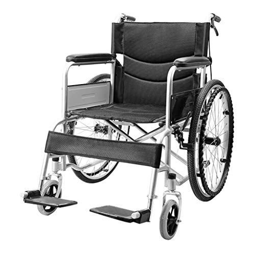 Amazing Deal JINBAO Folding Wheelchair is Portable and Suitable for The Disabled and The Elderly Ult...