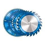 ZhengELE 1pcs Nano Blue Rivestito da 165-185mm Blade Circolare per la Lama Circolare per Il Tagliente TCT Strumenti per la Lavorazione del Legno 24T / 40T / 48T Disc Caburo (Color : 185x30x80T)