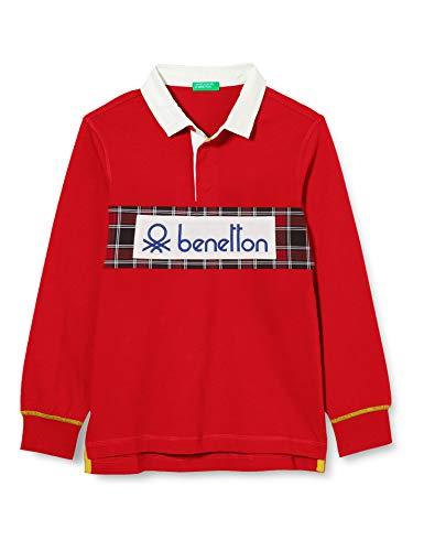 United Colors of Benetton (Z6ERJ) Jungen Maglia Polo M/L Polohemd, Red 015, S