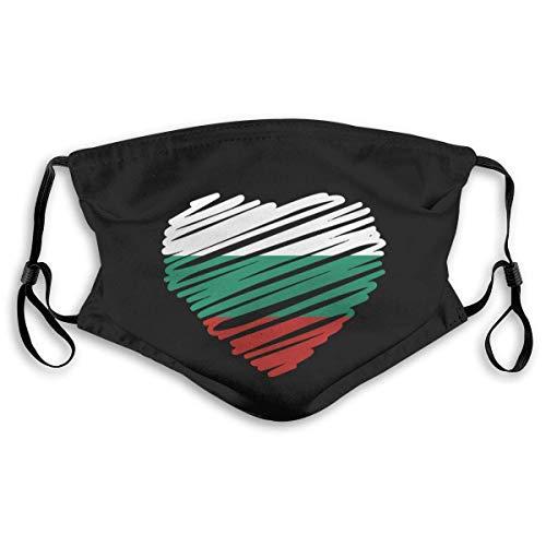 Bulgaarse vlag Unisex anti-vervuiling masker stofmasker met filter masker