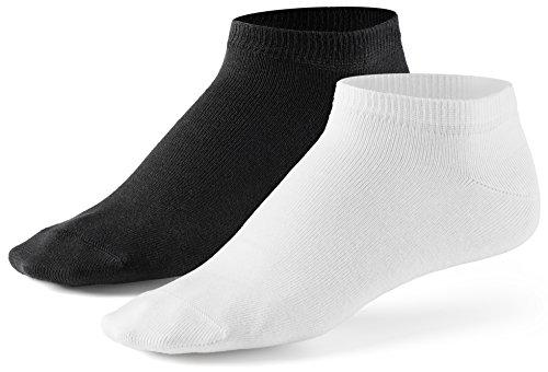 Mat & Vic's Sneaker Socken, 10 Paar, Cotton classic, Oeko-Tex Standard 100, Schwarz-weiß, 43-46