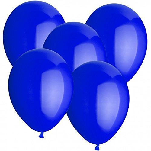 doriantrade.de 100 Luftballons Ø 30 cm Farbe frei wählbar Ballons Helium Luftballon (Dunkelblau)