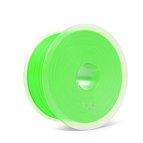 BQ Easy Go - Filamento de 1.75 mm (100 % PLA, resistente a la acetona, rápido endurecimiento), color verde fluorescente