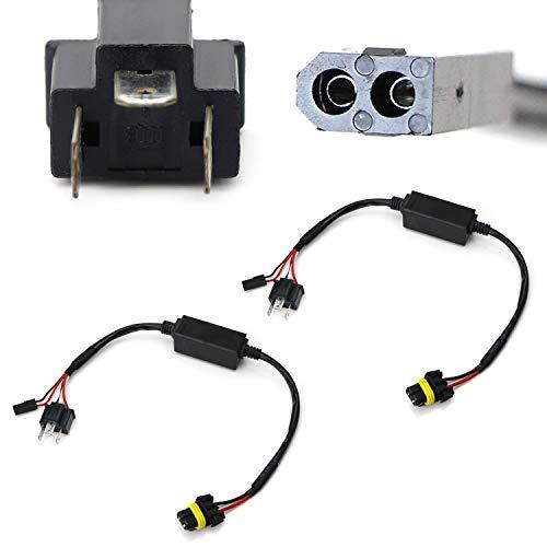 iJDMTOY (2) Easy Relay Harness Compatible With H4 9003 Hi/Lo Bi-Xenon Headlight...