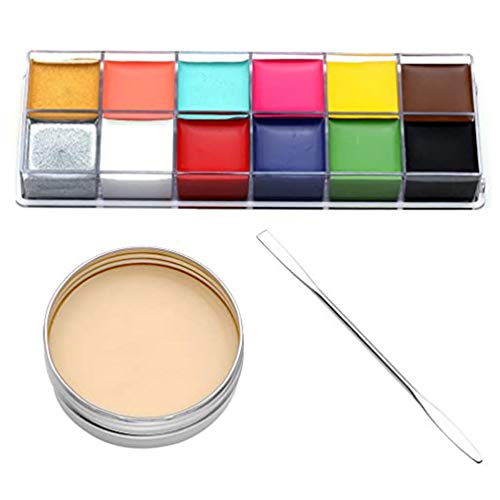Lurrose 3 Unids Kit de Maquillaje de Halloween Cara Pintura Corporal Aceite Herida Falsa Cera de La Piel Cicatriz Pintura Corporal Efectos Especiales Cera de Maquillaje de Escenario para