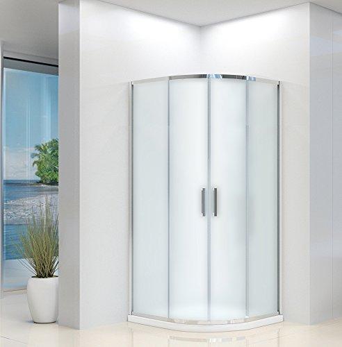 Box ducha semicircular mate con puertas correderas 6 mm 90 x 90 195 Atena: Amazon.es: Bricolaje y herramientas