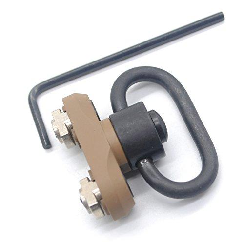 Trirock mlok Sling Swivel Mount Adapter 3,2cm QD Push Button Tan Farbe coslettizing Oberfläche Kit Befestigung