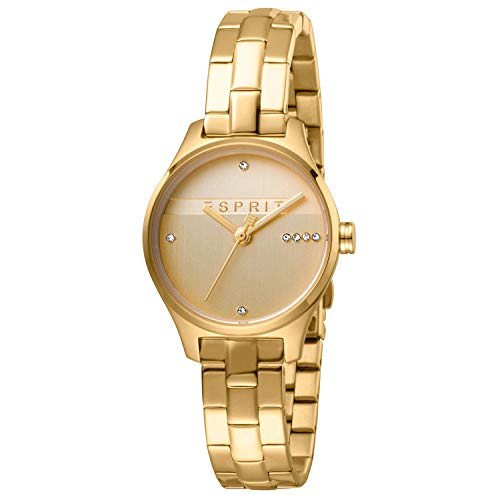 Esprit ES1L054M0065 Essential Glam horloge Dameshorloge verguld 3 bar analoog goud