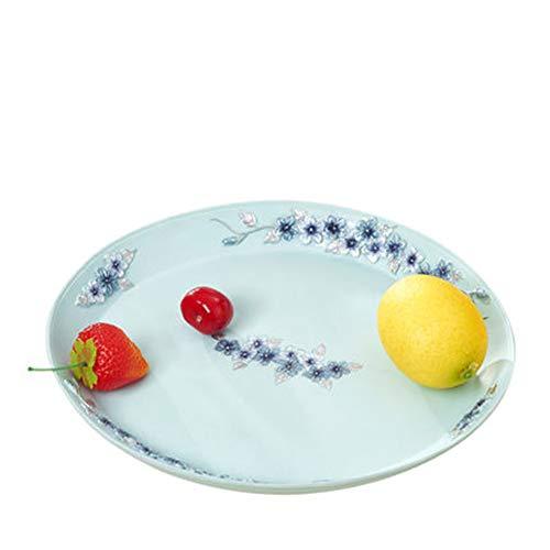 Xianw Assiette De Fruits De Salon, Assiette De Fruits Secs en Résine Dessert, Assiette À Bonbons/Décorations pour La Maison 28X25cm (11X10inch)