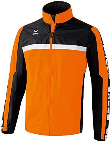 Erima Herren Classic 5-C Regenjacke, orange/schwarz/weiß, L