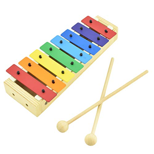 MUSICUBE Xylophone for Kids Wood Xylophone with Mallets Orff Music Instrument for Educational& Preschool Learning Baby Percussion Kit with Professional Tuning for Toddlers Gift Choice for Children age