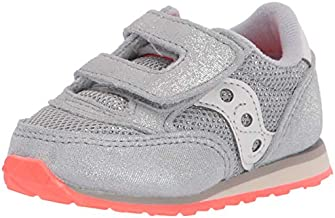 Saucony Girls Baby Jazz Hook & Loop Sneaker, Silver Sparkle, 10.5 Little Kid