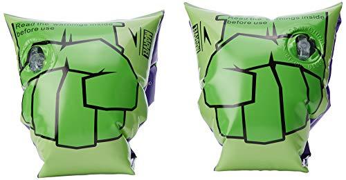 Speedo Unisex-Jugend Schwimmflügel mit Marvel-Druckmotiv, Hydro-Grün/Classic-Grün/Hulk-Lila, 2-6 Jahre