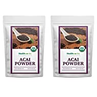 Healthworks Acai Berry Powder Organic (8 Ounces) (2 x 4 Ounce Bags) | All-Natural, Certified Organic & Freeze-Dried | Fiber & Omega Fats from Brazil | Antioxidant Superfood