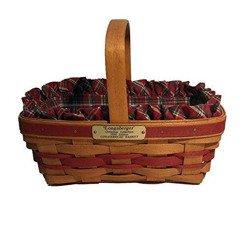 Longaberger 1990 Christmas Collection Gingerbread Basket Combo (Red)