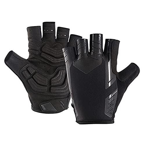 Yobenki Fahrradhandschuhe Herren Halbfinger atmungsaktiv Gel stoßdämpfung Fitness Handschuhe MTB Mountainbike Handschuhe Unisex Fahrrad Handschuhe