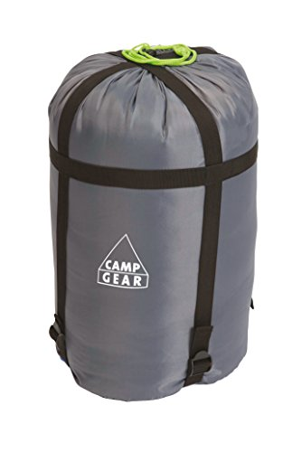 Camp-Gear - Housse de compression pour sac de couch. - Medium - Ø 20 cm - Gris
