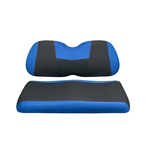 NOKINS Golf Cart YP Type Seat Cover Kit,Suitable for Club Car Prepredent and Yamaha,Easy to Install,The Seat Cover Can Protect The New Appearance and Update The Old Cushion.(Blue&Black)