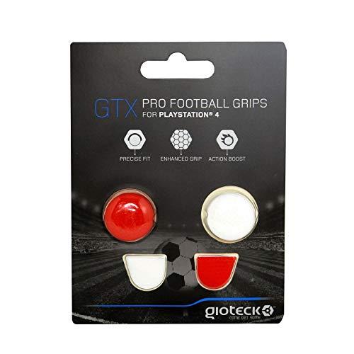 Gioteck - GTX PS4 - Funda Protectora de Silicona para Mando PS4, Protección para Joysticks, Antideslizante, Precisión Grips para Playstation 4 Blanco y Rojo (PS4)