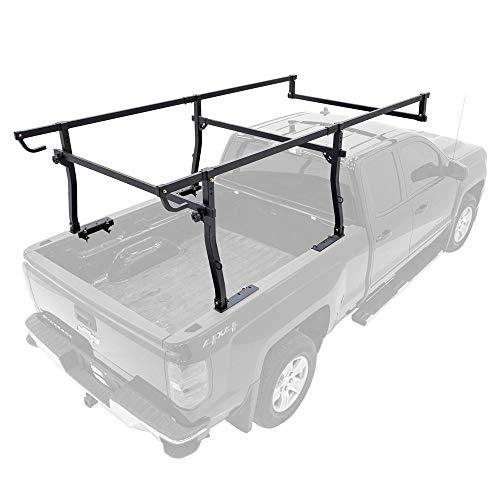 utility rack for trucks Apex UPUT-Rack-V3 Universal Steel Heavy-Duty Over-Cab Truck Rack - 1,000-lb Cap