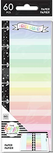 Price comparison product image The Happy Planner Mini Half Sheet Filler Paper - Journaling & Planner Accessories - Everyday Theme - Pre-Punched - Double-Sided - Color Blocked & Dot Lined Paper - 60 Sheets