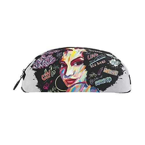 Hand zeichnen Mode Mädchen Bunte Graffiti Bleistift Fall Stift Tasche Beutelhalter Münz Geldbörse kosmetisches Make-up für Trave Office