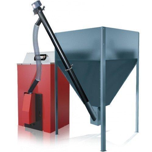 Caldera de Pellets orligno 400 Con Quemador de Pellets bafa 30 KW