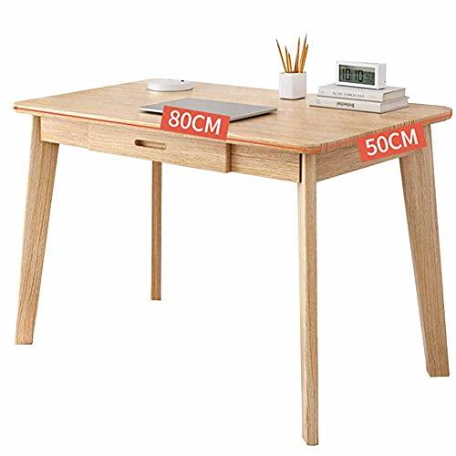 LJFYXZ Mesa de Ordenador Mesa de Escritura de Estudio con cajones Escritorio de Madera para Dormitorio Tocador para el hogar, la Oficina, la Sala de Estudio 100x55x75cm(Size:100x55x75cm)