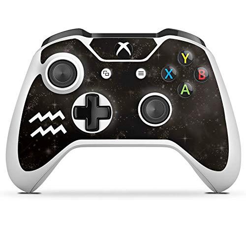 DeinDesign Skin kompatibel mit Microsoft Xbox One S Aufkleber Folie Sticker Sternzeichen Wassermann Future