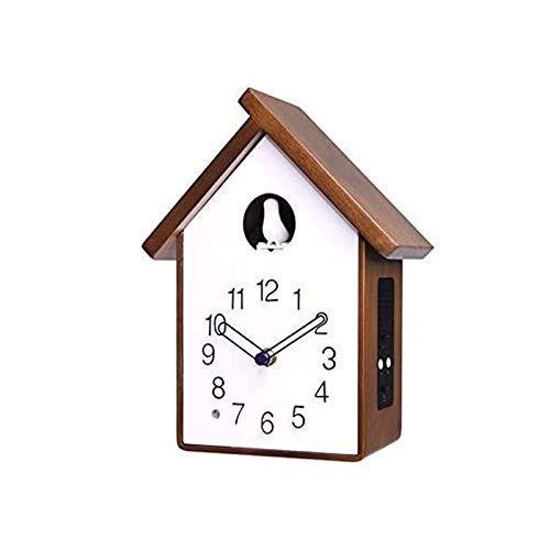 DongSheng Reloj de Pared de Cuco de Madera sólida Reloj de Pared Simple Sala de Estar Reloj de Asiento Dormitorio Creativo Cuckool Reloj, a,B