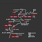 Hnhzhd ホットオクタゴン・モーター・スピードウェイステッカー秋の山赤城元丸薬正トラックマップ反射車のステッカー貼付ステッカー (Color : 1)