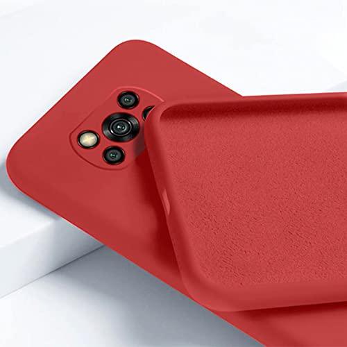 Capa Vermelha Silicone Premium Forro Interno Xiaomi Poco X3 X3 Pro X3 NFC [Coronitas Acessorios]