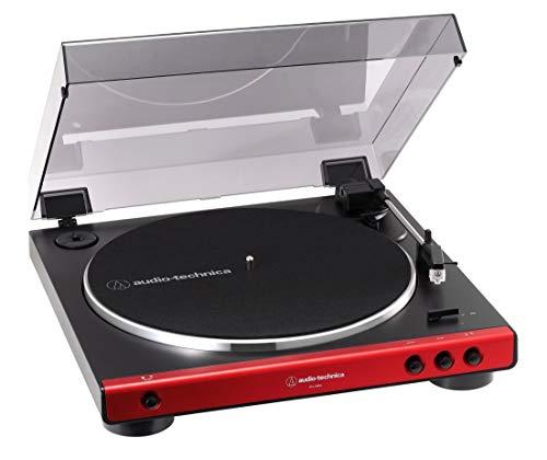 オーディオテクニカ フルオートレコードプレーヤー レッド AT-LP60X RD
