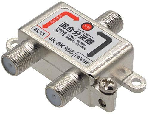 『オーディオファン 混合分波器 アンテナ 3224MHZ 対応 ノイズ 8K 4K AFMG ケーブル別』の3枚目の画像