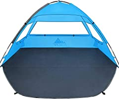 【Outdoor Activities Protection & Great Ventilation】 Premium 210D sun-proof fabrics provide great UV protection from the sun and the 3 large roll up windows provide the needed airflow to stay cool inside the tent. 【Good Flexibility & High Durability】 ...