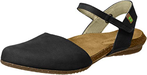 El Naturalista S.A N412 Pleasant Wakataua, Damen Closed-toe Sandalen, Schwarz (Black), 39 EU