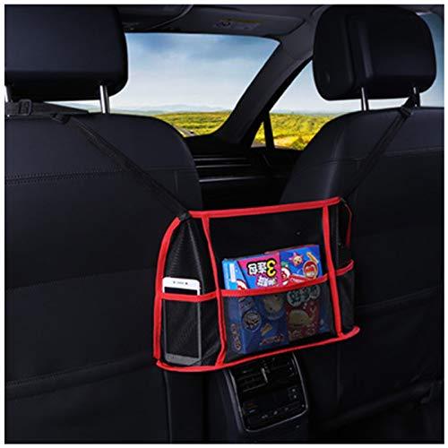 Car Net Pocket - Soporte para bolsos entre los asientos, bolsillo de malla ajustable para el almacenamiento del conductor, bolso de mano, almacenamiento y bolsillo