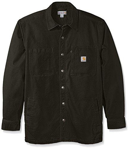 Carhartt Men's Rugged Flex Rigby Shirt Jacket, Peat, Medium