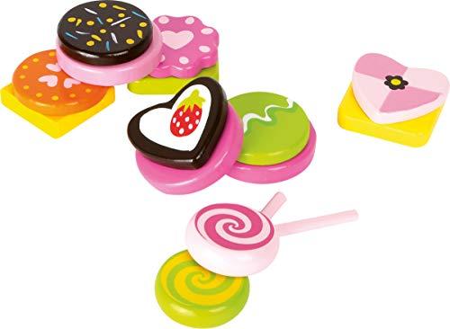 small foot 10888 Houten snoepgoedset, voor kinderen, kinderkeuken en winkelmandjes, accessoires, speelgoed