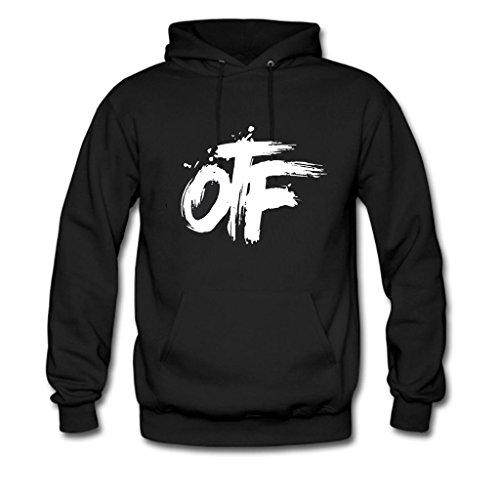 OTF, Custom Unisex Pullover Hoodie Sweatshirt Black